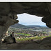 Inside Peers Cave, overlooking Fish Hoek