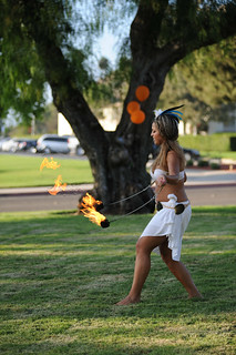 Fire dancing performance at the Luau, August 2008. | by California State University Channel Islands