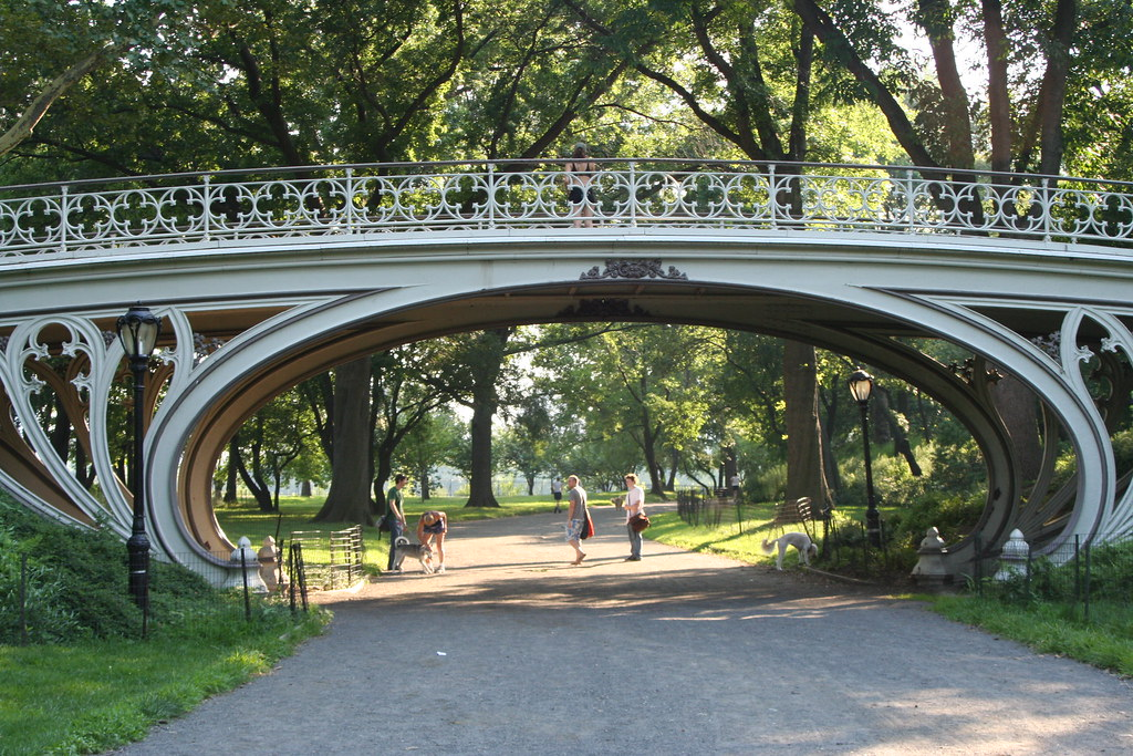 The Art Nouveau Bridge Over The Bridle Path Central Park