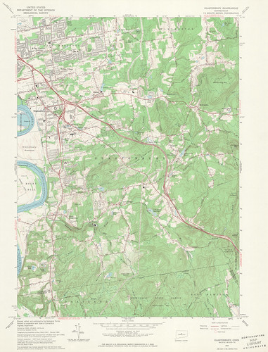 Glastonbury Quadrangle 1964 - USGS Topographic Map 1:24,000 | by uconnlibrariesmagic