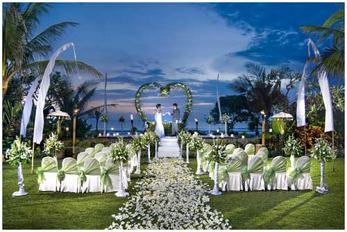 Wedding decoration at hotel padma bali wedding for Bali accommodation recommendations
