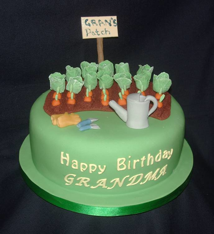 Birthday Cake Designs Green Fingered Grandma Traceyt197