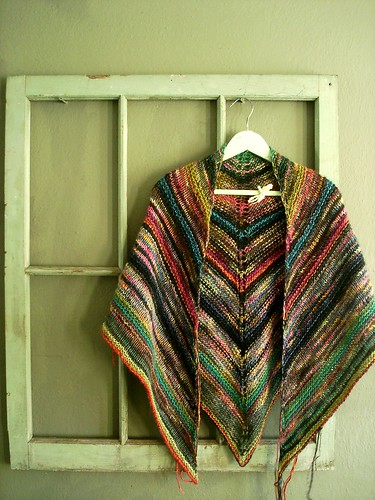 melted crayon shawl | by velostricken