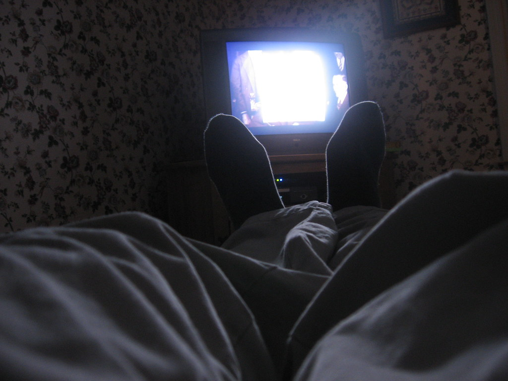 """""""watching a movie"""