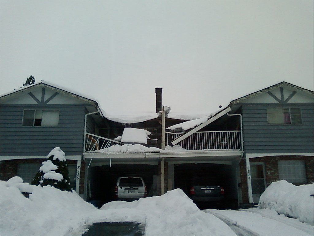Deck Roof Collapse Snow Was A Bit Heavy I Guess There