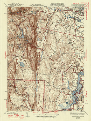 Southwick Quadrangle 1947 - USGS Topographic Map 1:31,680 | by uconnlibrariesmagic