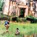 Boys fishing at Khmer Ruins