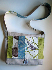 Liberty Linen Messenger Bag | by Cindy {K}
