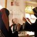 Young Yemeni women weaving