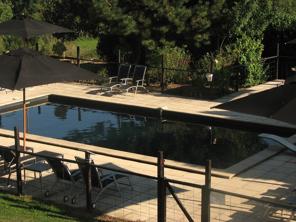 Black swimming pool, Chateau les Merles | Charlie Rapple ...