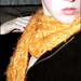 dropstitch scarf - orange yellow