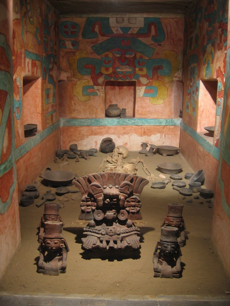 Tomb Of King Pakal From Palenque Mexico City National