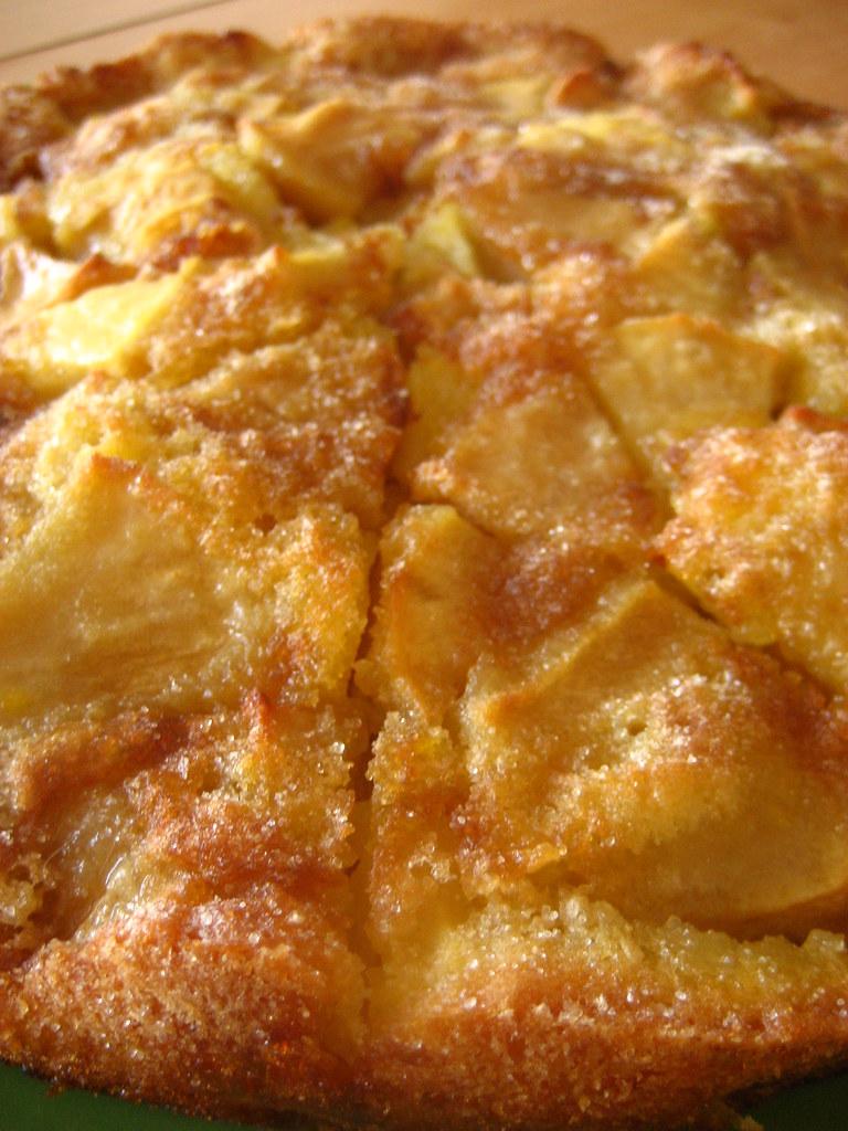 Cake Aux Pommes Et Chocoalt Fondant