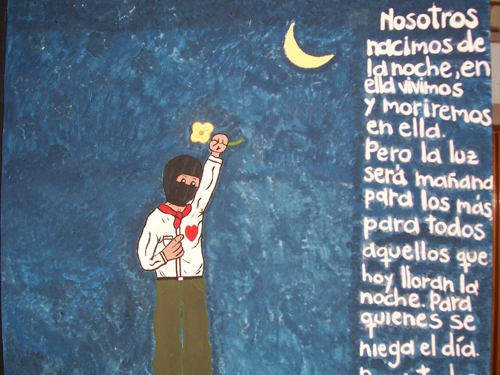Mural zapatista mural realizado por estudiantes de for Mural zapatista