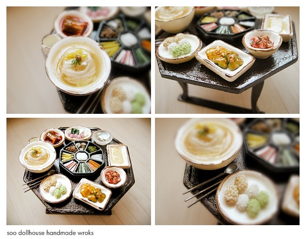 miniature korean food a large dining table a large  : 5126580427daf2c26607z from www.flickr.com size 500 x 391 jpeg 116kB