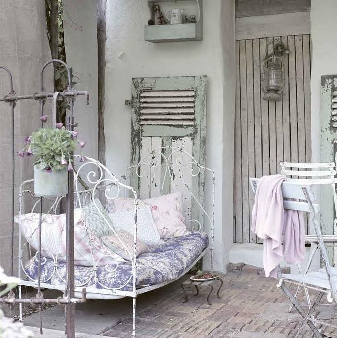 Shabby French Country Outdoor Terrace Absolutey