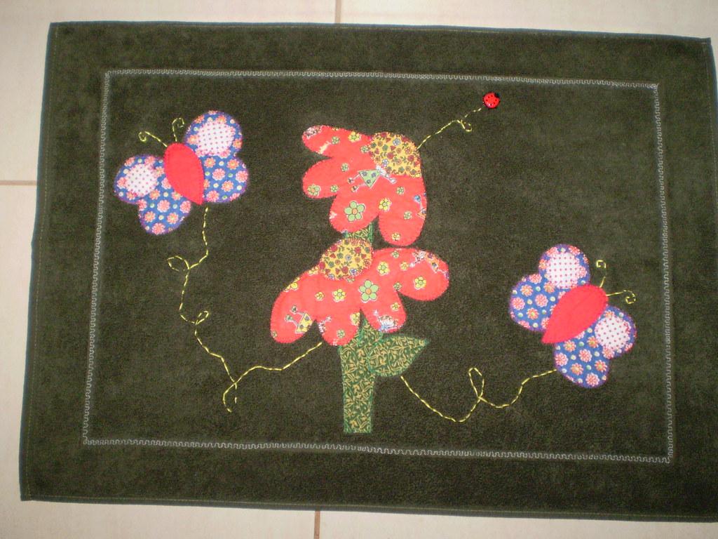Patchwork Em Tapete De Banheiro : Tapete banheiro meus primeiros trabalhos de patchwork Marcia