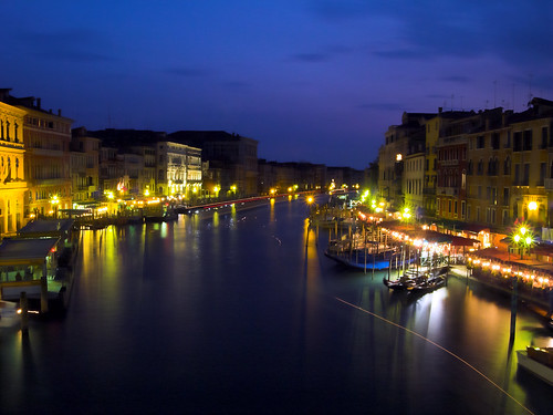 Grand Canal Venice Night Grand Canal Venice by