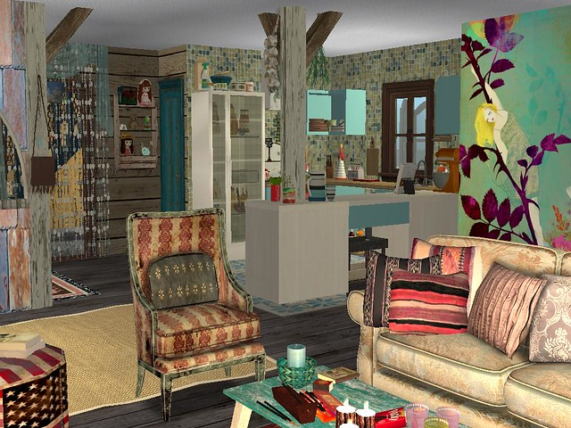 Sims 2 Decorated House Sparksfall Flickr