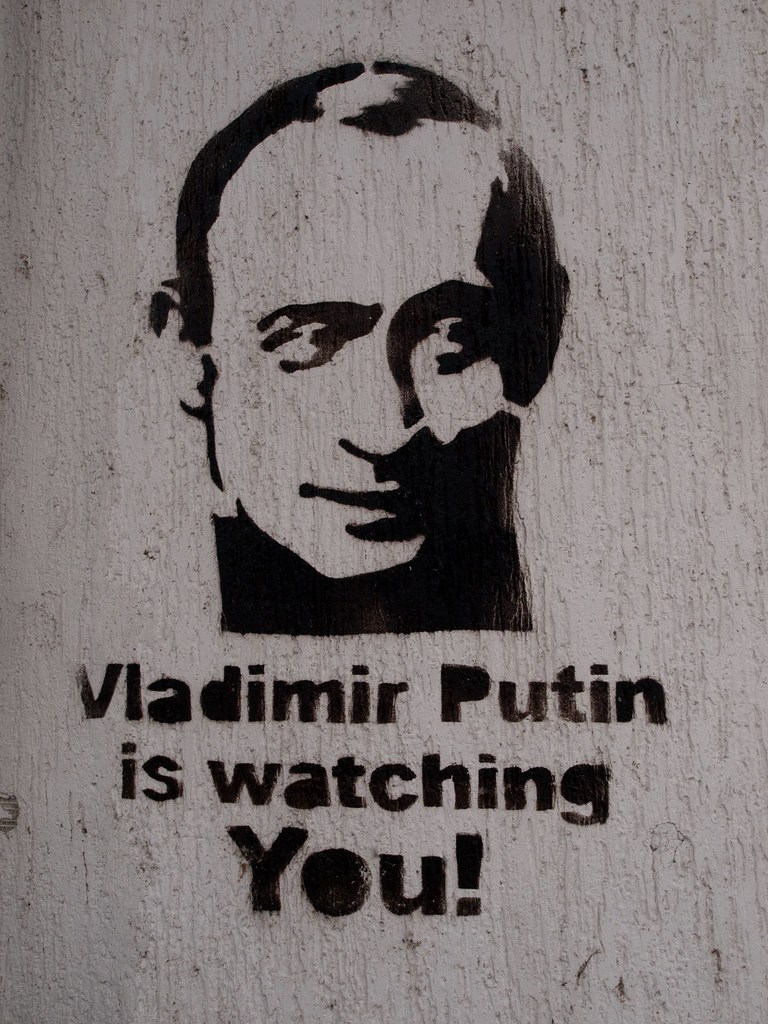 Vladimir Putin is watching you | A graffiti in a street of Z… | Flickr