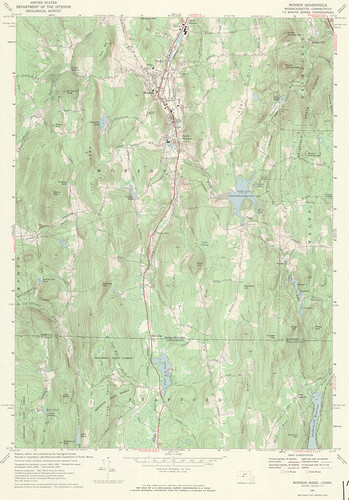 Monson Quadrangle 1967 - USGS Topographic Map 1:24,000 | by uconnlibrariesmagic
