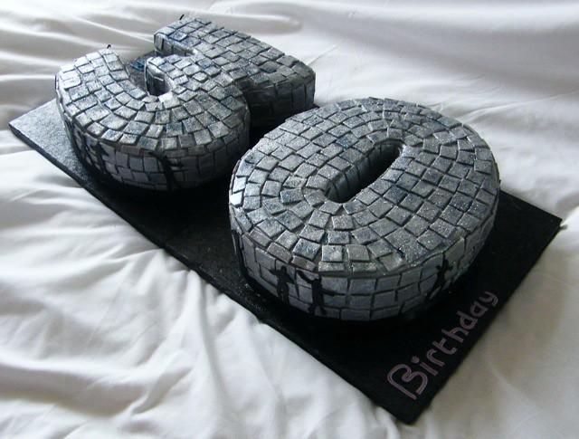 Mirror Ball Birthday Cake