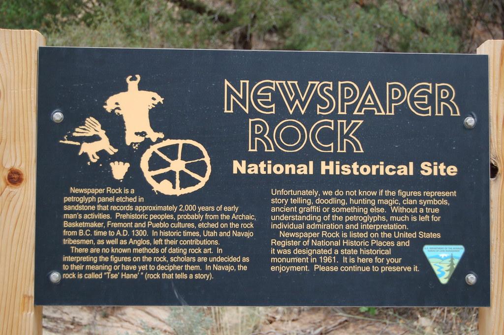 Newspaper Rock - Newspaper Rock, a petroglyph site about an … - FlickrNewspaper Rock - 웹