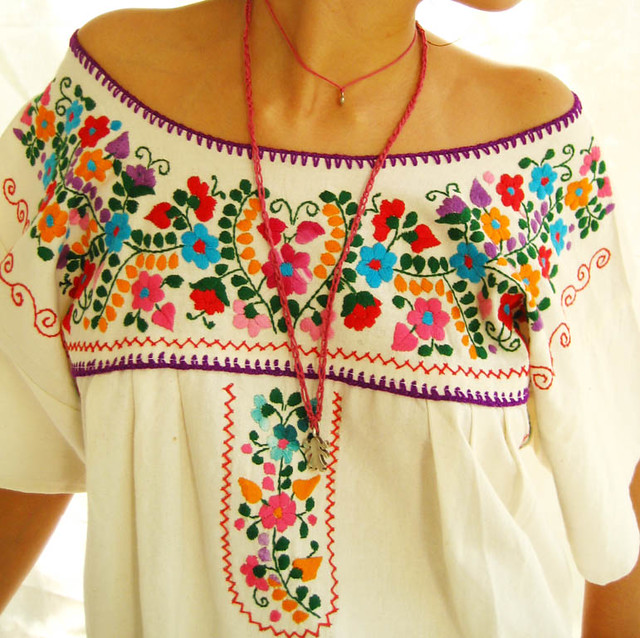 The mexican embroidered dress aida coronado galeria flickr Fashion embroidery designs