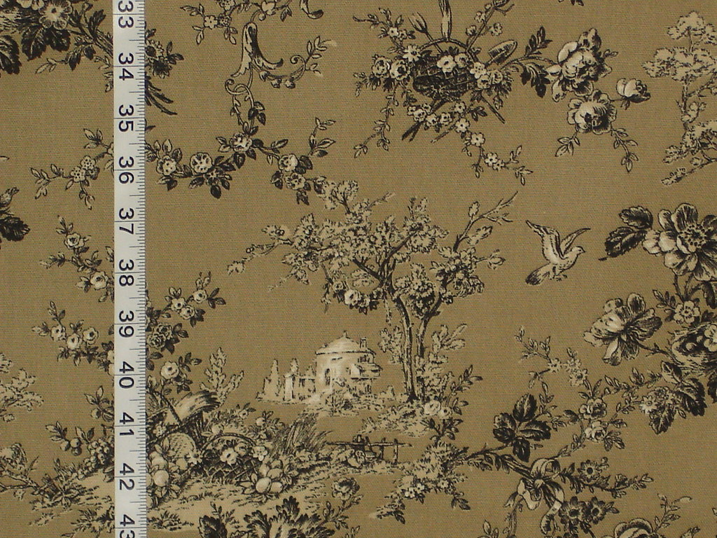 Brown Toile Fabric European Castle A Braemore Fabric It