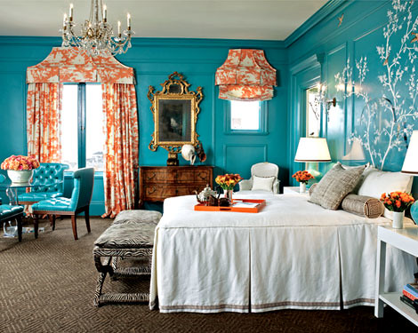 Color Turquoise Bedroom Not Sure About The Orange
