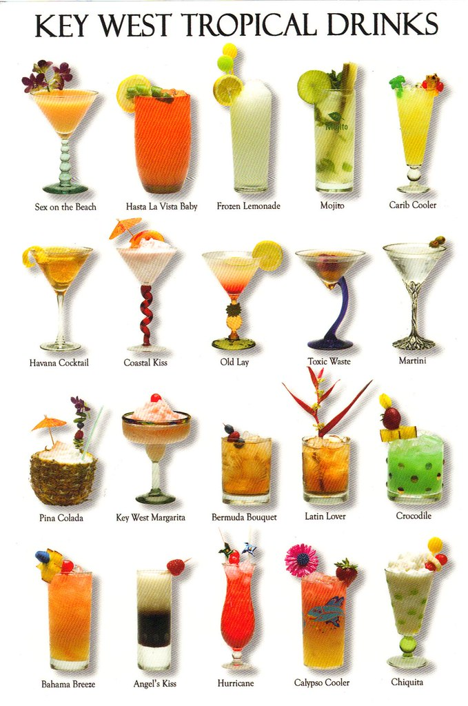 Key West Florida Tropical Drinks Postcard Available Flickr