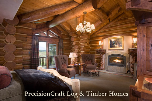 Handcrafted Log Home By Precisioncraft Log Homes Bedroom Flickr
