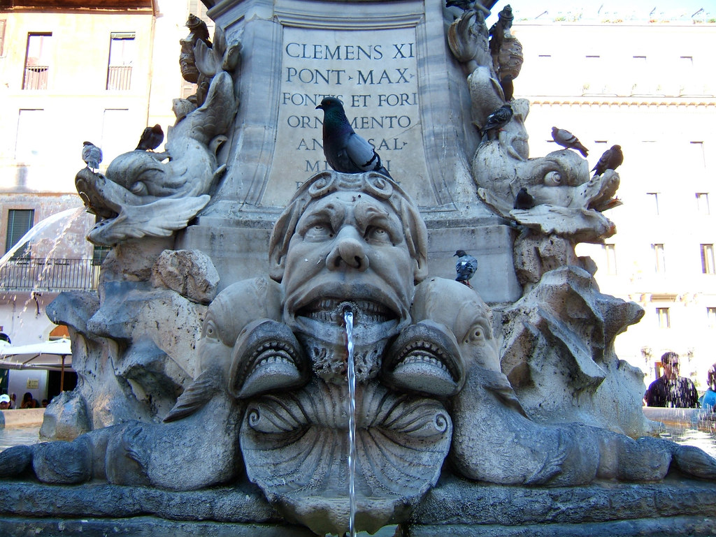 Fontana Del Pantheon Fountain Of The Pantheon Rome Flickr