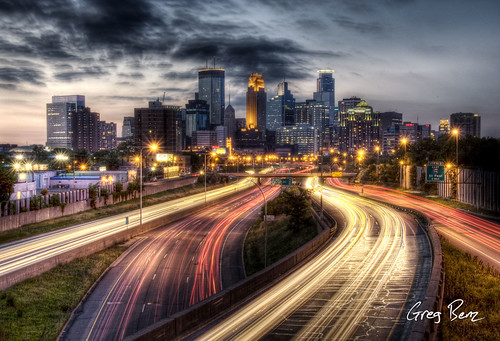 Downtown Minneapolis from I-35W | by Greg Benz Photography