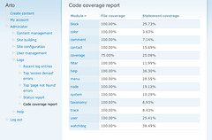 Code coverage analysis for Drupal (sneak peek #1)