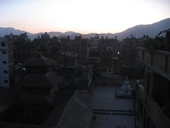 Kathmandu skyline at dusk