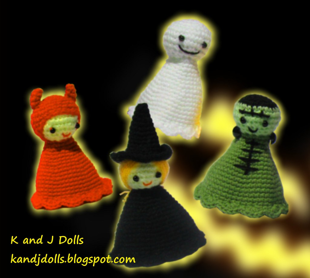 Halloween Amigurumi Ornaments by Lion Brand | Project | Crochet ... | 919x1024