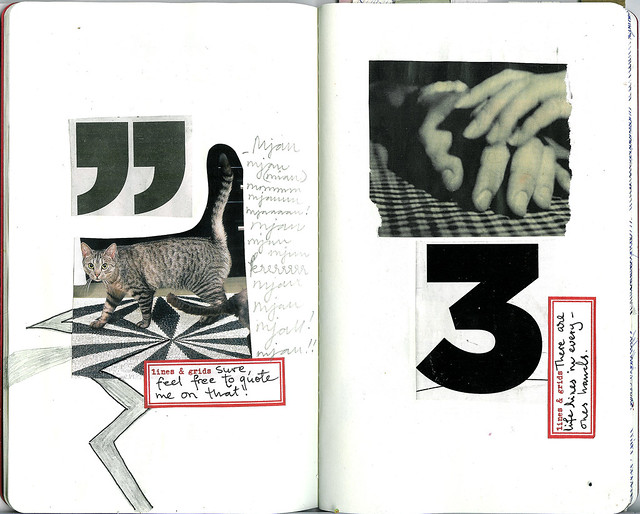 the Sketchbook Project | Grids + b/w pages