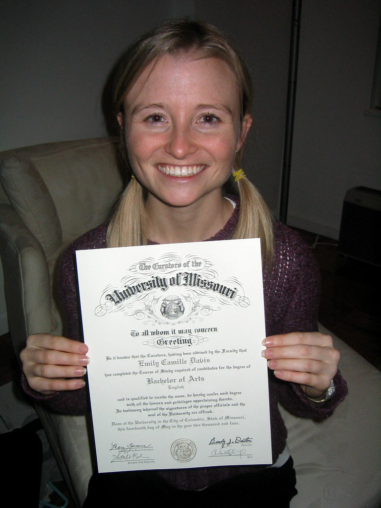 Me With My Diploma From Mizzou The Idiots In The Records