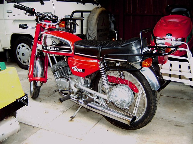 sachs hercules k50rl model 1976 red hot moped. Black Bedroom Furniture Sets. Home Design Ideas