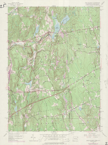 East Killingly Quadrangle 1974 - USGS Topographic 1:24,000 | by uconnlibrariesmagic