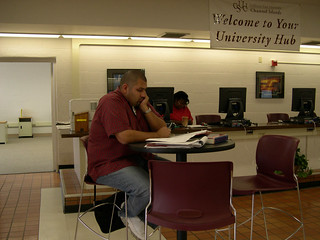Student Studying at the Hub | by California State University Channel Islands