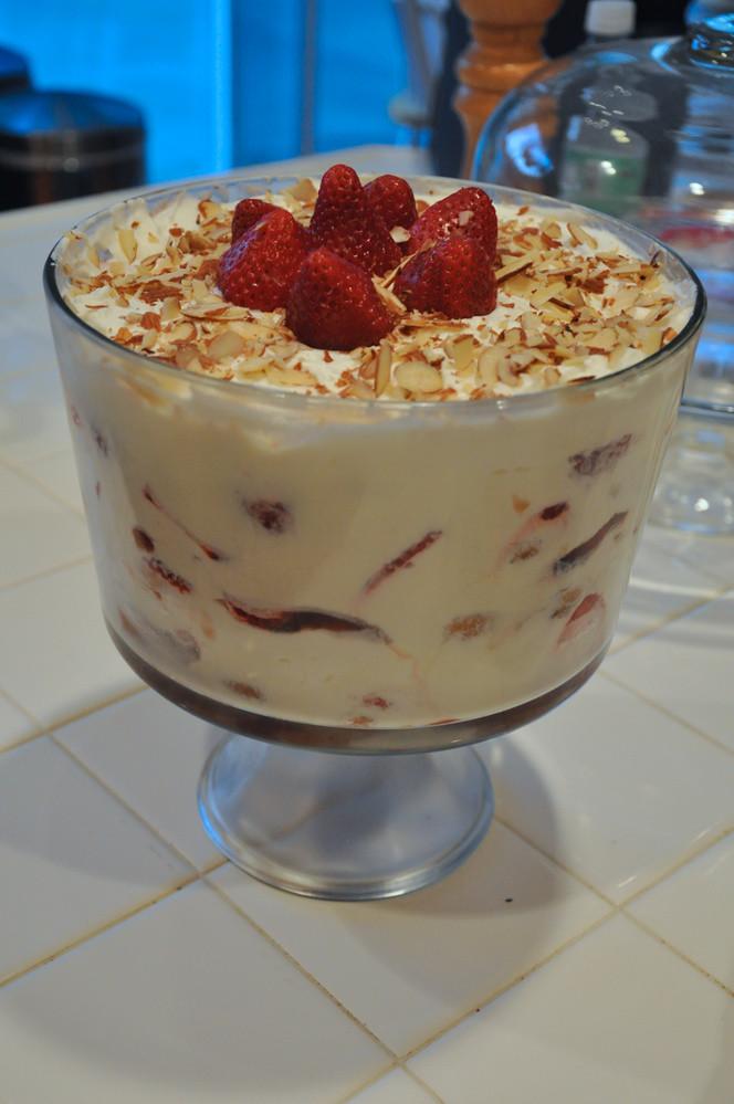 White Chocolate Trifle Cake