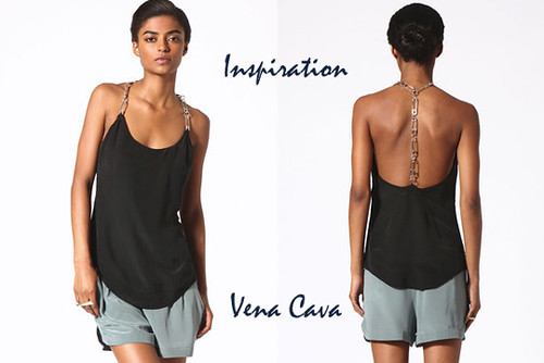 Vena Cava silk safety pin tank top DIY | by ...love Maegan