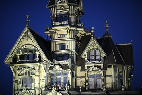 Carson Mansion at night | by gvick2002