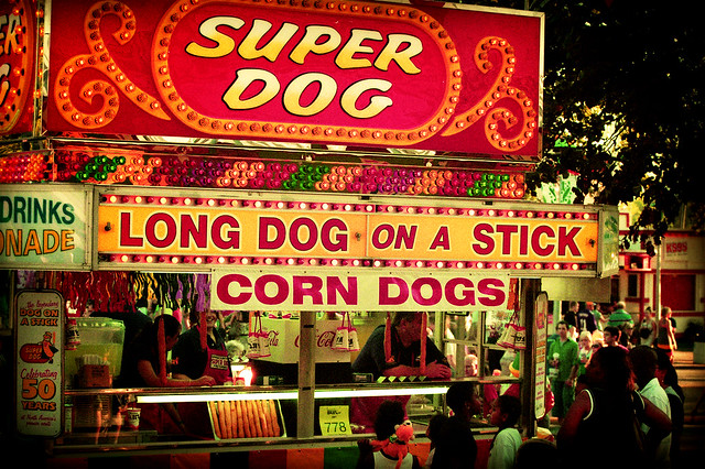 Dogs On-A-Stick | Long Dog Super Dog Corn Dog On-A-Stick Ser… | Bala ...