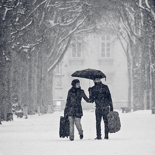 Paris under the snow | by Gregory Bastien