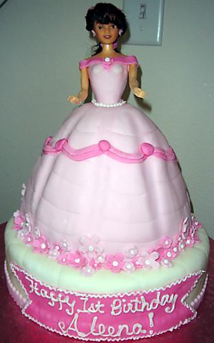 Princess Doll Cake A 1st Birthday Cake I Made For An