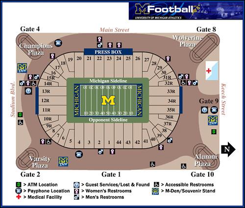 michigan stadium seating pre renovation university of mi flickr. Black Bedroom Furniture Sets. Home Design Ideas