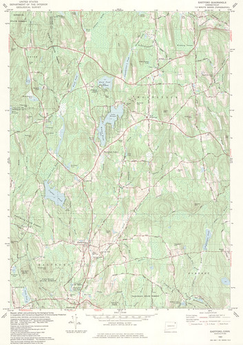 Eastford Quadrangle 1983 - USGS Topographic 1:24,000 | by uconnlibrariesmagic